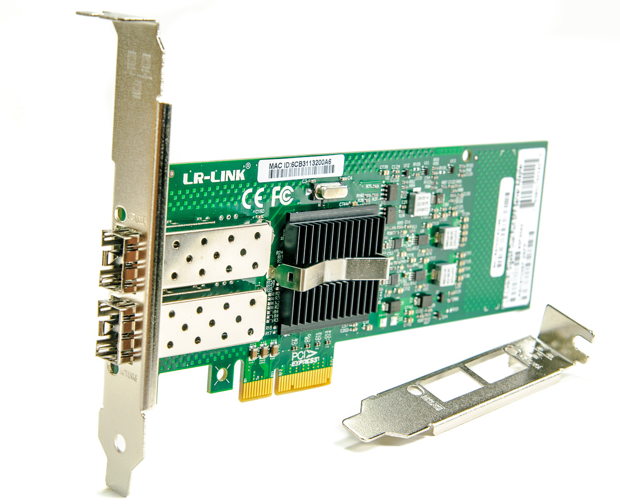LR-Link LREC9702EF-2SFP PCI Express Dual Port SFP Gigabit Server Adapter (Intel 82576 Based)