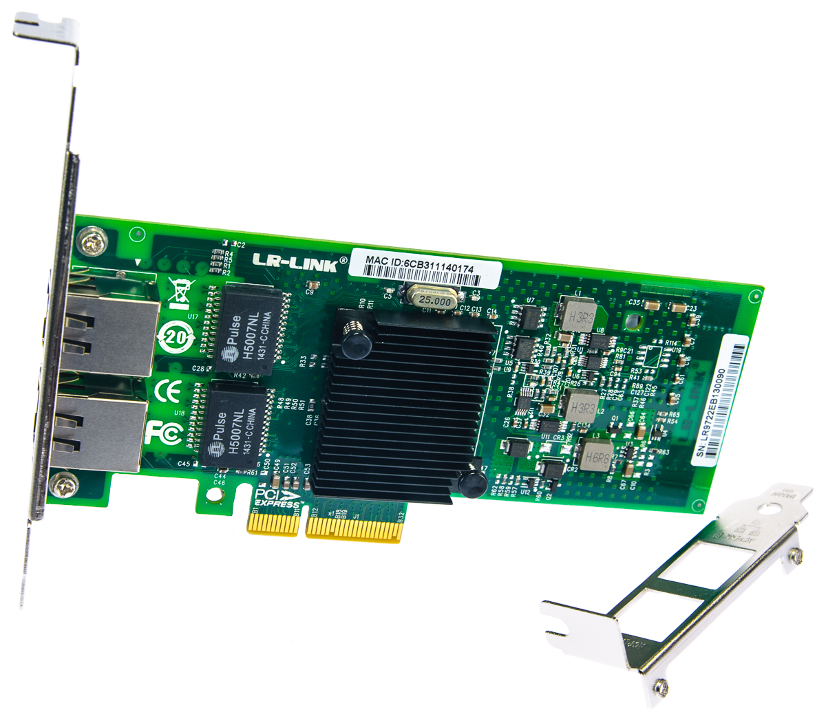 LR-Link LREC9722PT PCIe x4 Dual Port GbE Adapter