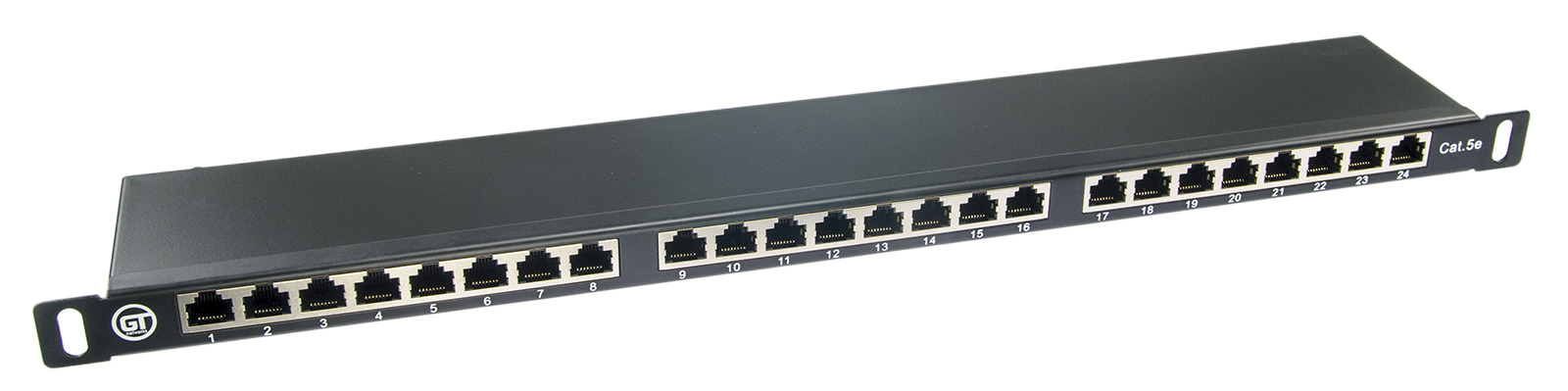 "Patchpanel FTP rack 19"", 0.5U, kat. 5e, 24 porty"
